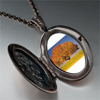 Necklace & Pendants - tree in autumn photo locket pendant necklace Image.