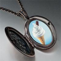 Necklace & Pendants - vanilla ice cream cone photo locket pendant necklace Image.