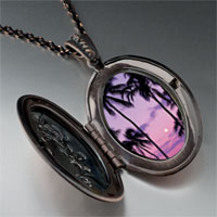 Necklace & Pendants - tropical sunset photo locket pendant necklace Image.