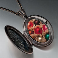 Necklace & Pendants - christmas ornament balls photo locket pendant necklace Image.