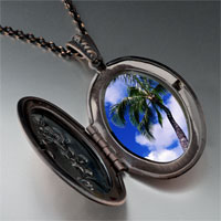 Necklace & Pendants - tropical beach palm tree pendant necklace Image.