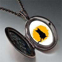 Necklace & Pendants - black cat silhouette pendant necklace Image.