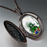 Necklace & Pendants - christmas necklace christmas tree gifts ice cube pendant necklace Image.