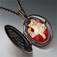 Necklace & Pendants - christmas gift kittens pendant necklace Image.