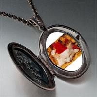 Necklace & Pendants - sleeping santa kitten pendant necklace Image.