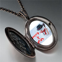 Necklace & Pendants - jewelry merry xmas christmas gifts snowman pendant necklace Image.