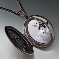 Necklace & Pendants - jewelry happy christmas gifts snowman black pendant necklace Image.