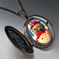 Necklace & Pendants - jewelry christmas gifts snowman in pendant necklace Image.