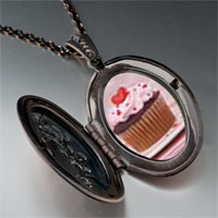 Necklace & Pendants - heart topped cupcake pendant necklace Image.