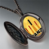 Necklace & Pendants - kwanzaa kinara candles holiday pendant necklace Image.