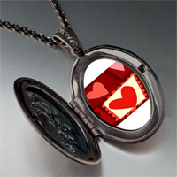 Necklace & Pendants - paper cutout hearts pendant necklace Image.