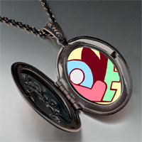 Necklace & Pendants - love heart puzzle pendant necklace Image.