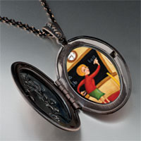 Necklace & Pendants - teacher using blackboard pendant necklace Image.