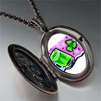 Necklace & Pendants - green beer brooch pendant necklace Image.