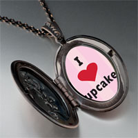 Necklace & Pendants - i heart cupcakes pendant necklace Image.
