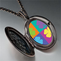 Necklace & Pendants - colorful leaf clovers pendant necklace Image.