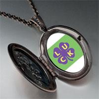 Necklace & Pendants - luck on a purple clover pendant necklace Image.