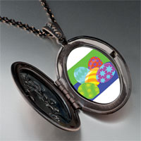 Necklace & Pendants - colorful easter eggs pendant necklace Image.