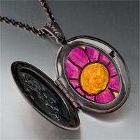 Necklace & Pendants - purple flower by amber pendant necklace Image.