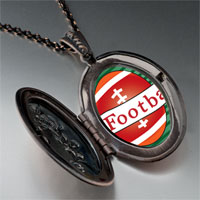Necklace & Pendants - heart football pendant necklace Image.