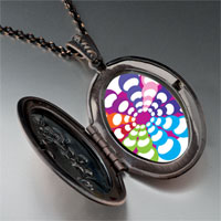 Necklace & Pendants - groovy hypnotic multicolored pendant necklace Image.