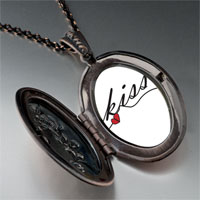 Necklace & Pendants - fancy kiss pendant necklace Image.
