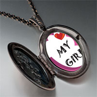 Necklace & Pendants - heart baby boy foot pink pendant necklace Image.