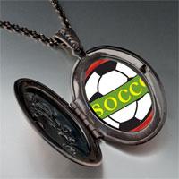 Necklace & Pendants - heart soccer sport pendant necklace Image.
