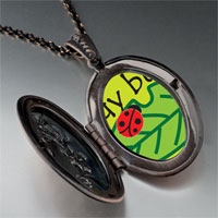 Necklace & Pendants - lady bug on leaf pendant necklace Image.