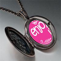 Necklace & Pendants - enjoy life hearts pendant necklace Image.