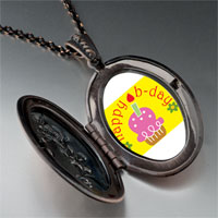 Necklace & Pendants - happy b day pink cake pendant necklace Image.