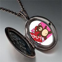 Necklace & Pendants - baby heart bear pendant necklace Image.