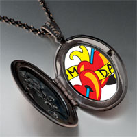 Necklace & Pendants - mom dad heart arrow pendant necklace Image.