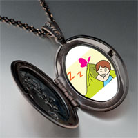 Necklace & Pendants - sleeping baby pendant necklace Image.