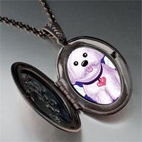 Necklace & Pendants - white dog heaven pendant necklace Image.
