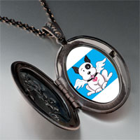 Necklace & Pendants - black white dog heaven pendant necklace Image.