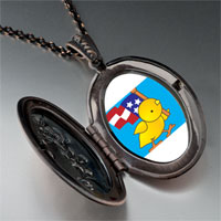 Necklace & Pendants - cute duck american flag pendant necklace Image.