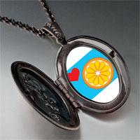 Necklace & Pendants - heart orange slice pendant necklace Image.