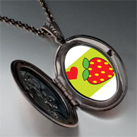 Necklace & Pendants - heart strawberry pendant necklace Image.