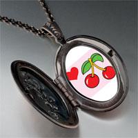 Necklace & Pendants - heart cherries pendant necklace Image.