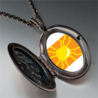 Necklace & Pendants - bright yellow sun pendant necklace Image.