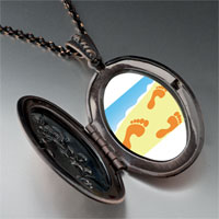 Necklace & Pendants - footprints sand pendant necklace Image.