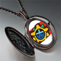 Necklace & Pendants - tribal facial mask pendant necklace Image.