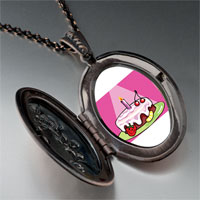 Necklace & Pendants - birthday cake in spotlight pendant necklace Image.