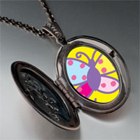 Necklace & Pendants - colorful bright butterfly pendant necklace Image.