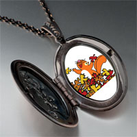 Necklace & Pendants - fall squirrel fun pendant necklace Image.