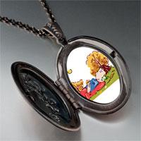 Necklace & Pendants - boy sleeping autumn pendant necklace Image.