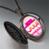 Necklace & Pendants - pink heart birthday cake pendant necklace Image.