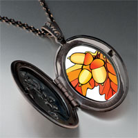 Necklace & Pendants - autumn fall acorn leaves pendant necklace Image.