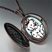 Necklace & Pendants - maltese dog white pendant necklace Image.